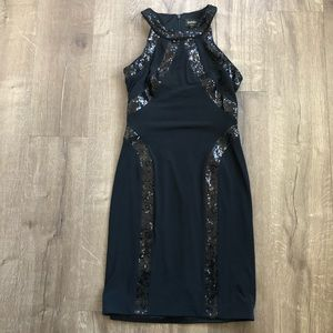 Laundry by Shelli Segal Black Sequin Body Con 4